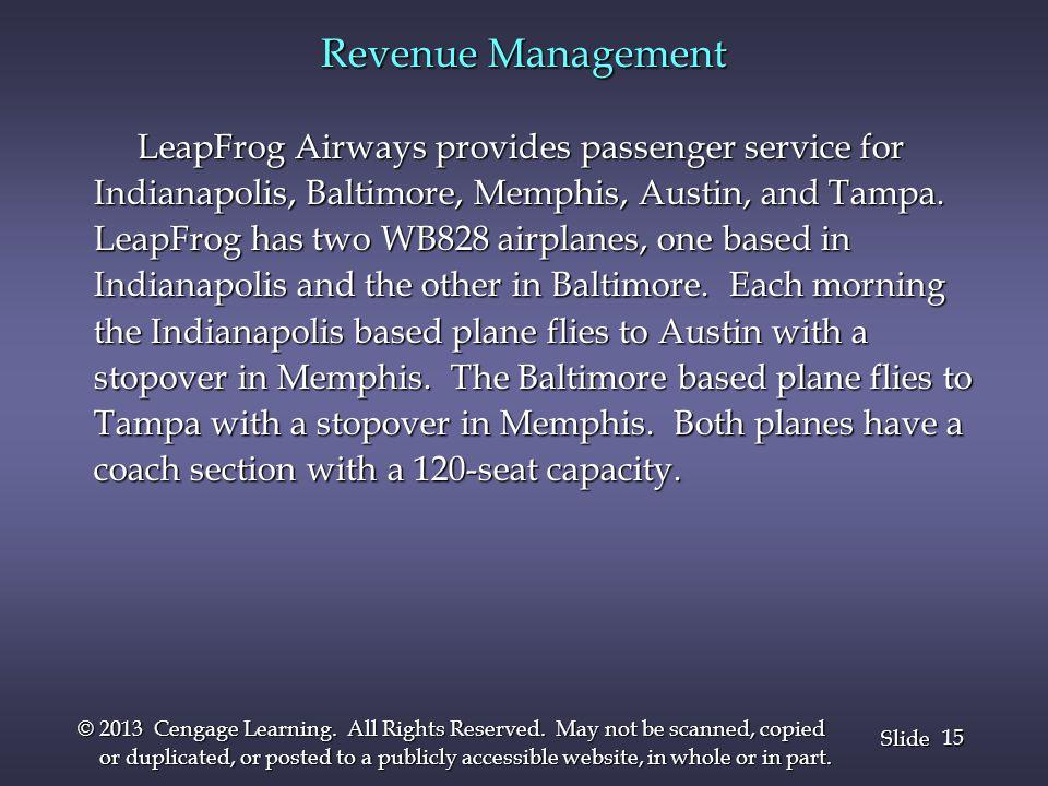 Revenue Management LeapFrog Airways provides passenger service for