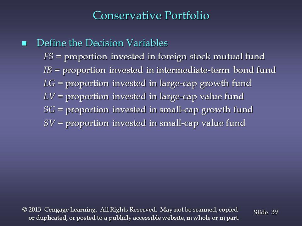 Conservative Portfolio