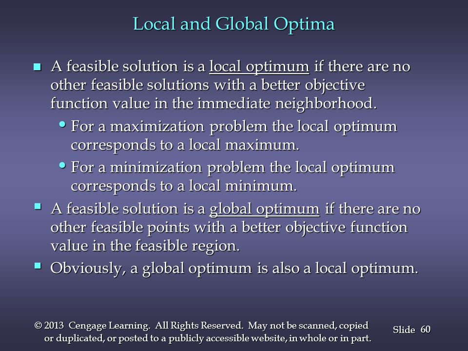 Local and Global Optima