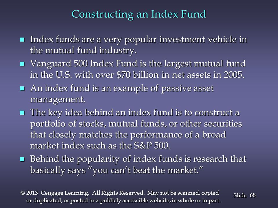 Constructing an Index Fund