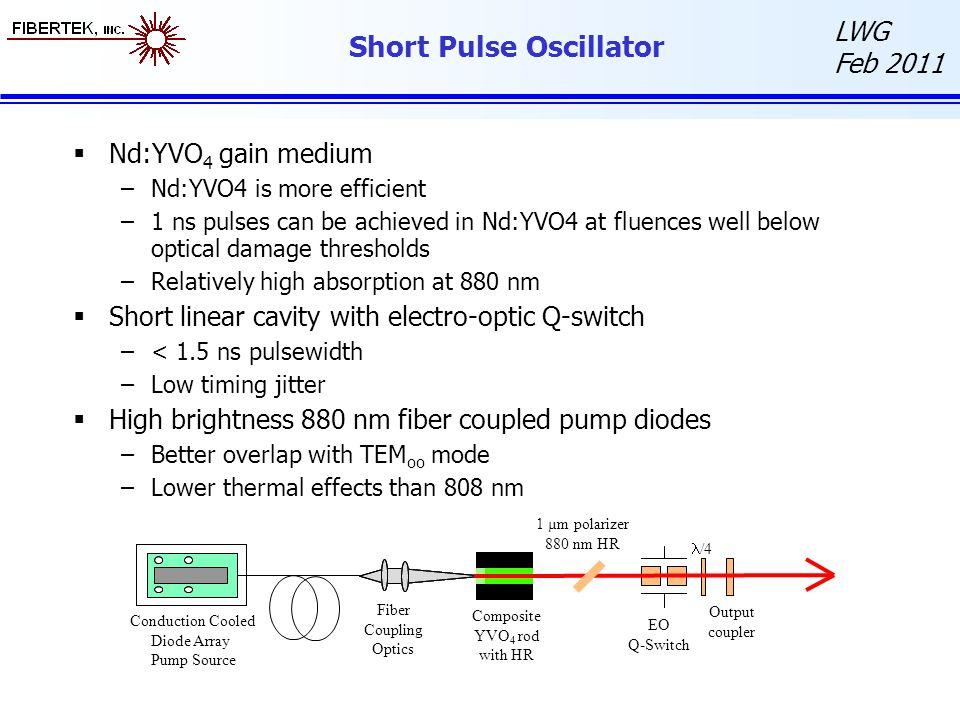 Short Pulse Oscillator