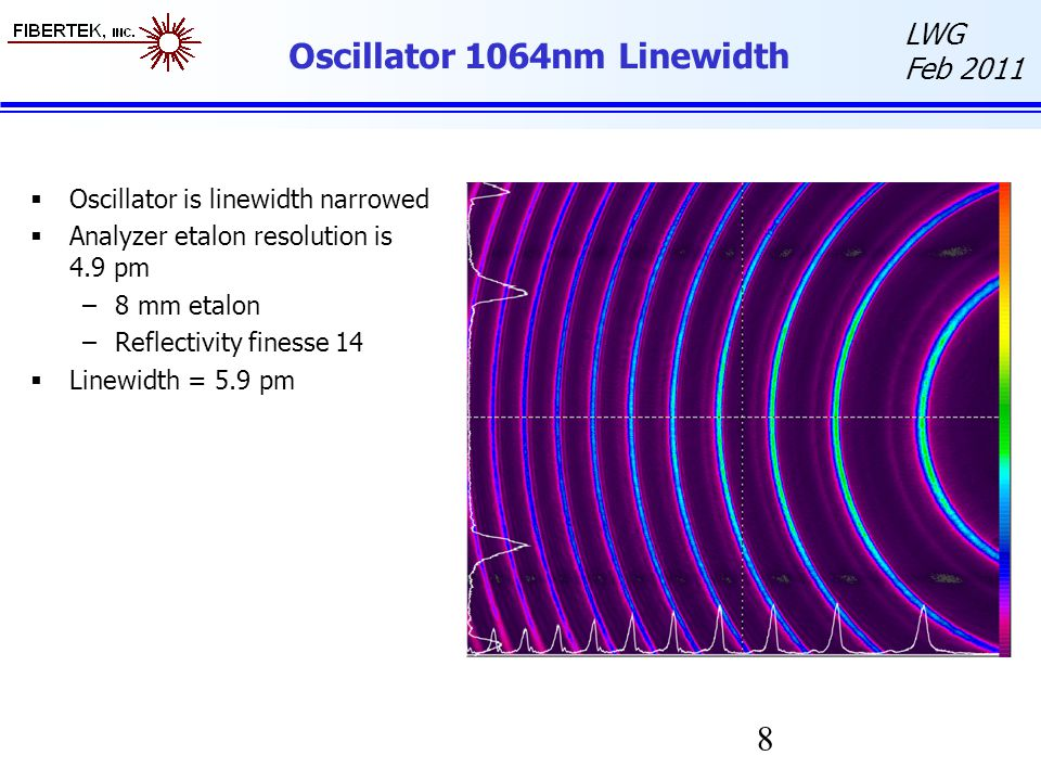Oscillator 1064nm Linewidth