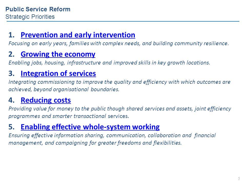 Public Service Reform Strategic Priorities
