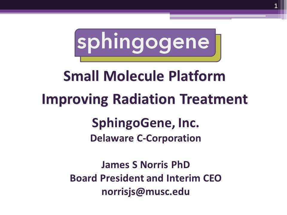 Small Molecule Platform Improving Radiation Treatment