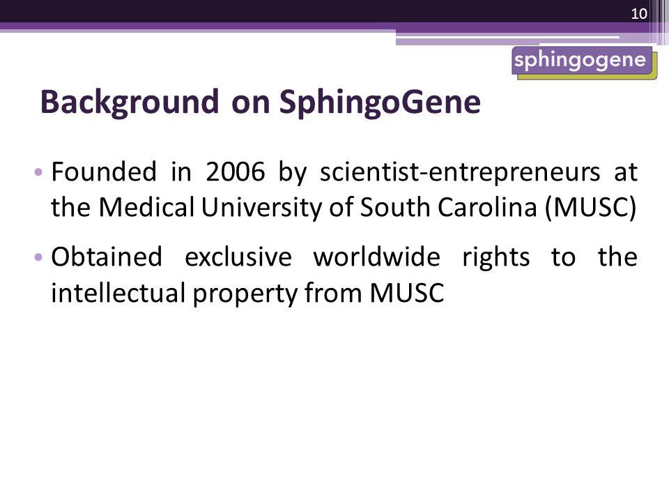 Background on SphingoGene