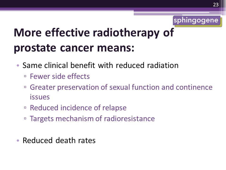 More effective radiotherapy of prostate cancer means: