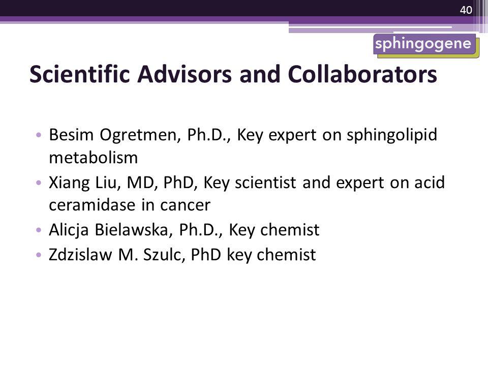 Scientific Advisors and Collaborators