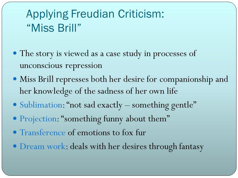 Applying Freudian Criticism: Miss Brill