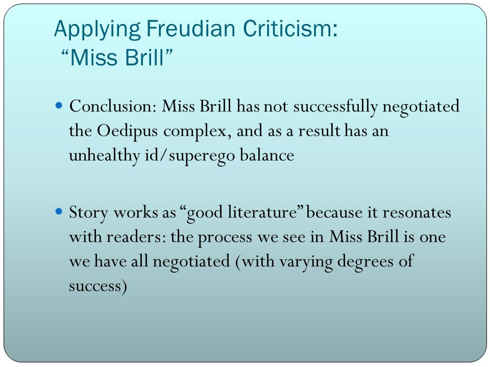 miss essay View notes - miss brill characterization essay - jeffrey thompson from physical s 1401 at trinity valley community college miss brill by katherine mansfield the short story, miss brill was written.