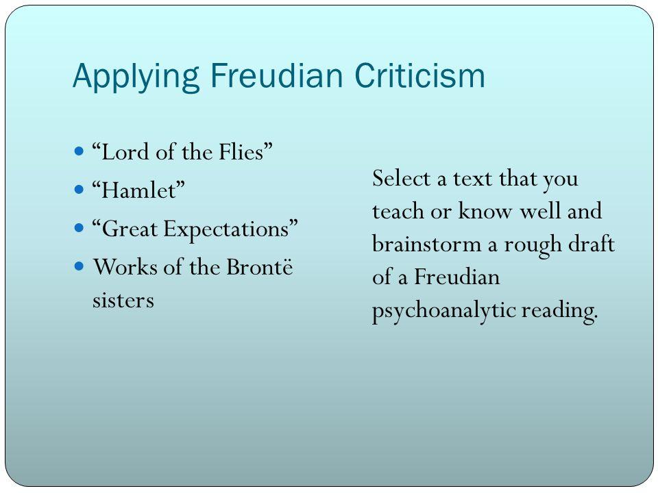 Applying Freudian Criticism