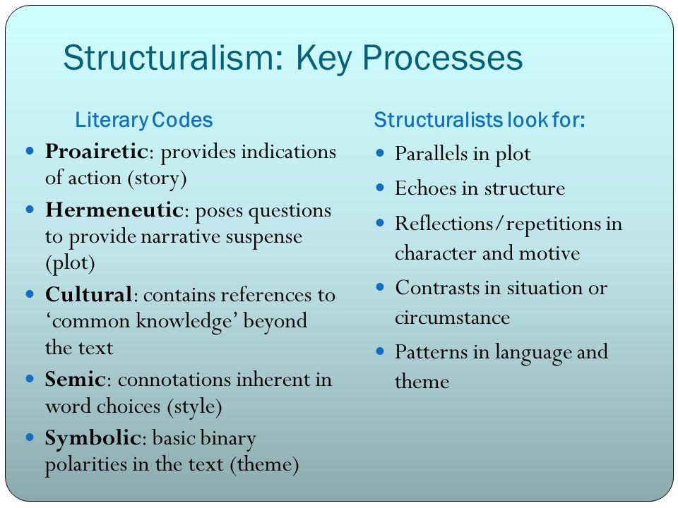 Structuralism: Key Processes