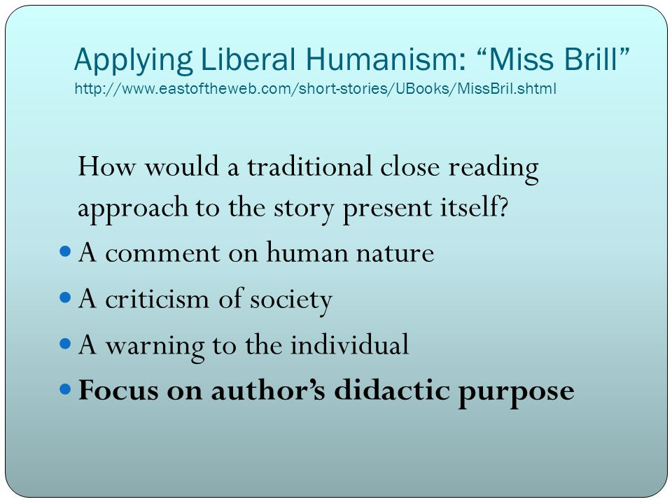 A comment on human nature A criticism of society