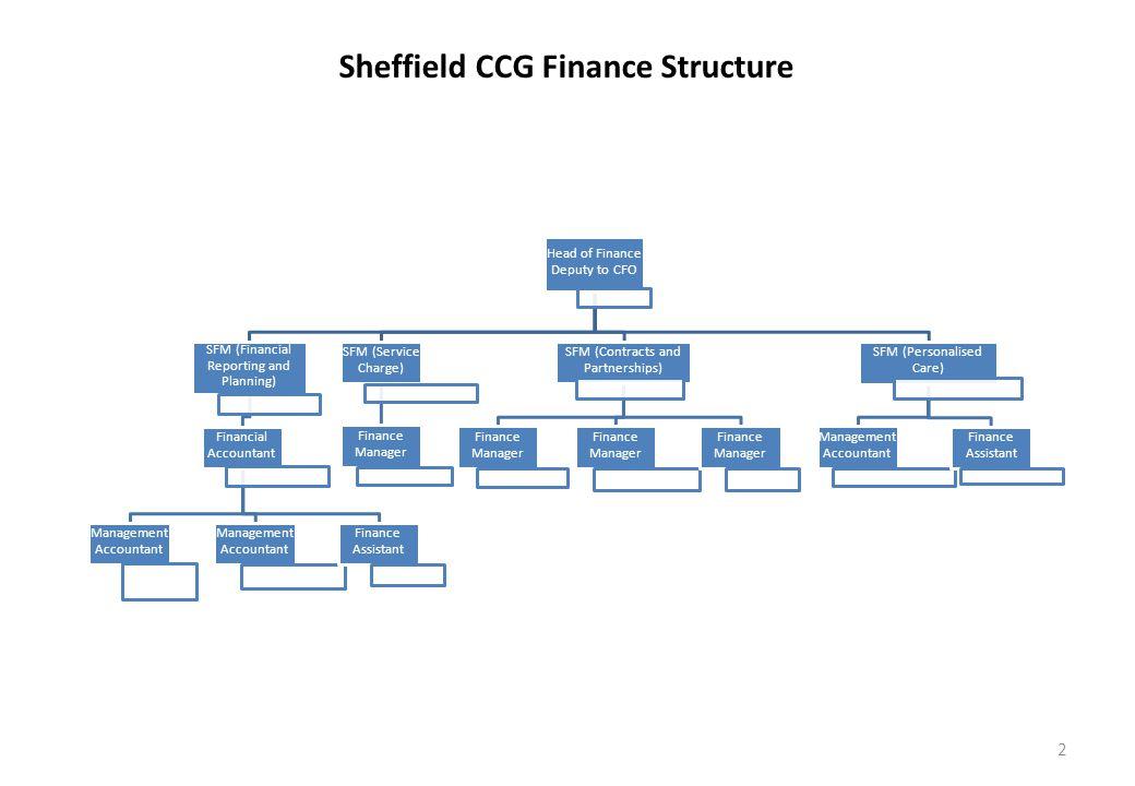 Sheffield CCG Finance Structure