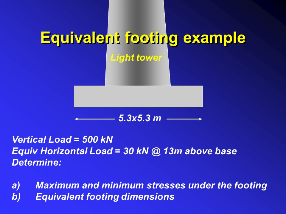 Equivalent footing example