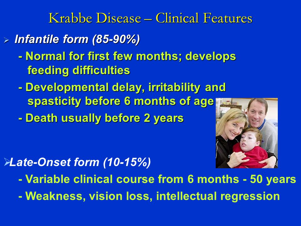 Krabbe Disease – Clinical Features