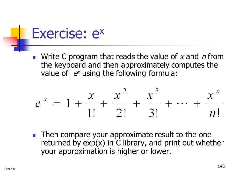Exercise: ex