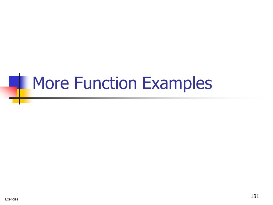More Function Examples