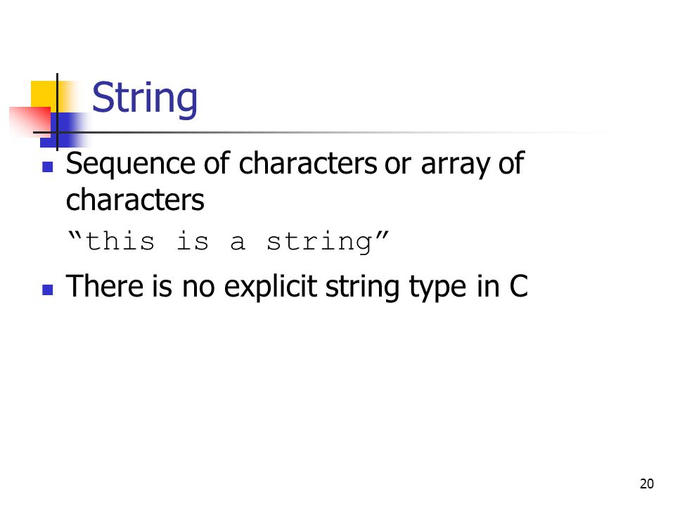 String Sequence of characters or array of characters