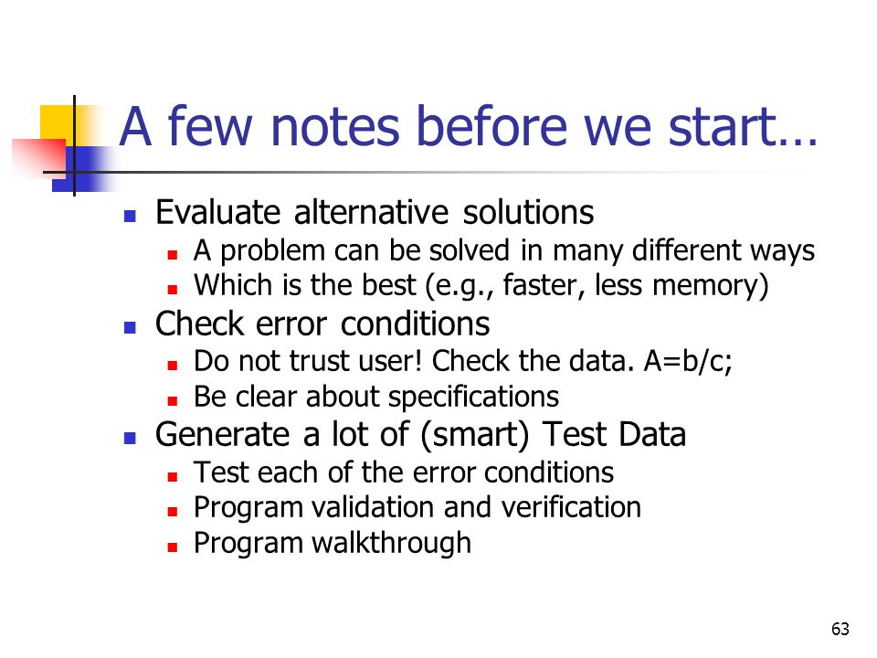 A few notes before we start…