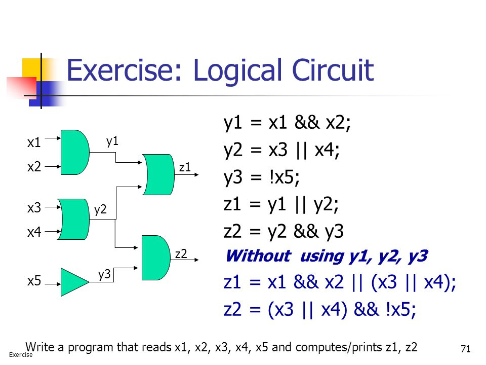 Exercise: Logical Circuit