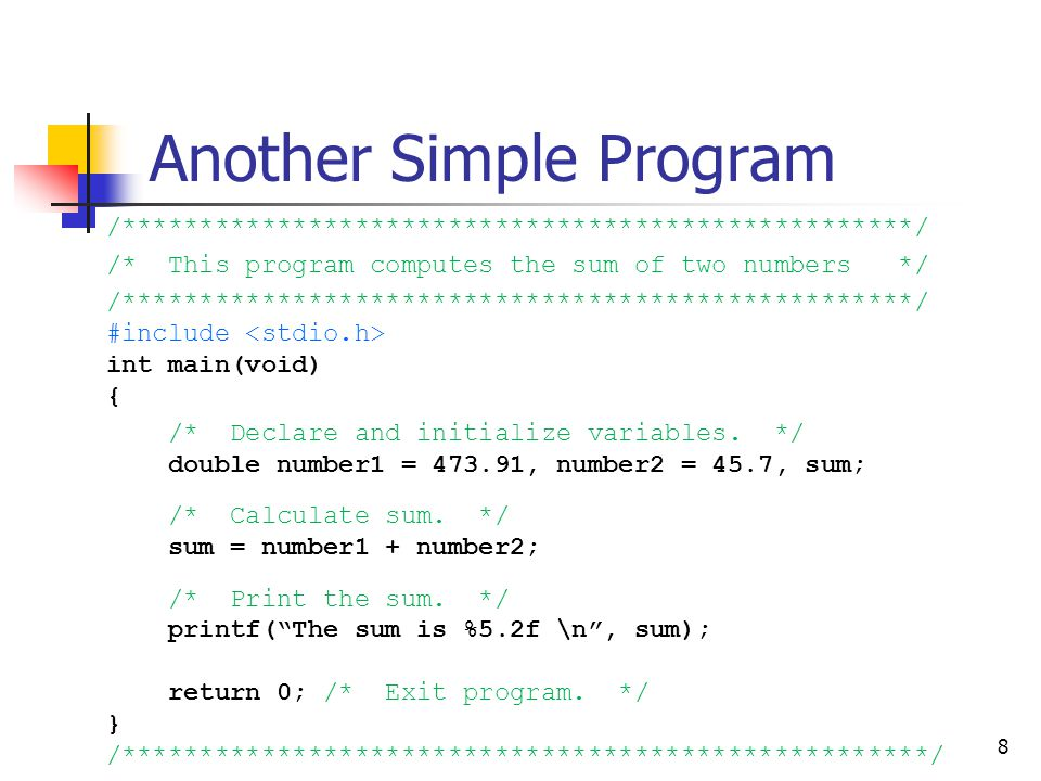 Another Simple Program
