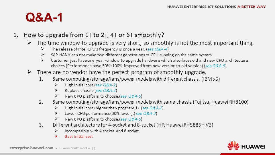 Q&A-2 How to upgrade of IBM or Fujitsu IBM: 128G~2T 4T~6T