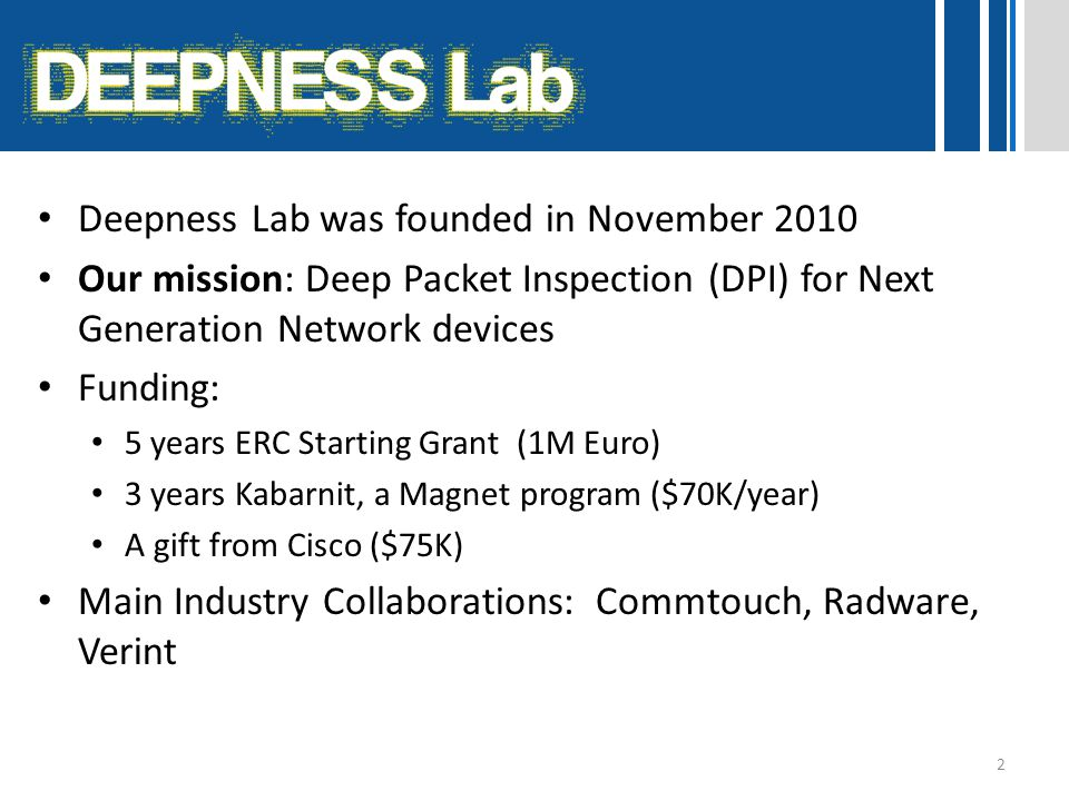 Deepness Lab was founded in November 2010