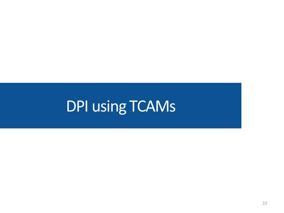 DPI using TCAMs