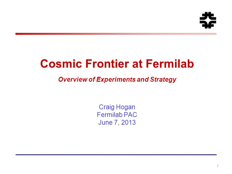 Cosmic Frontier at Fermilab Overview of Experiments and Strategy