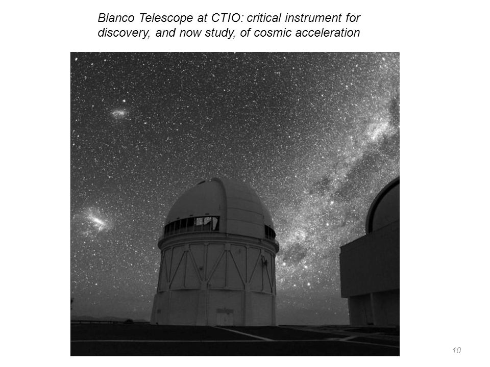 Blanco Telescope at CTIO: critical instrument for discovery, and now study, of cosmic acceleration