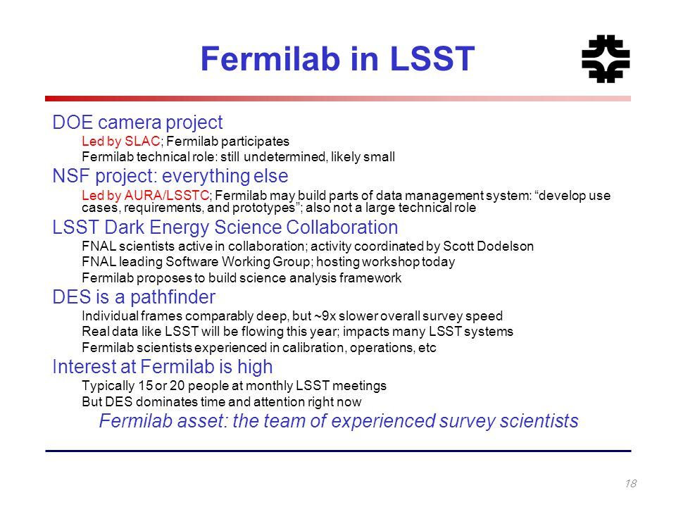 Fermilab asset: the team of experienced survey scientists