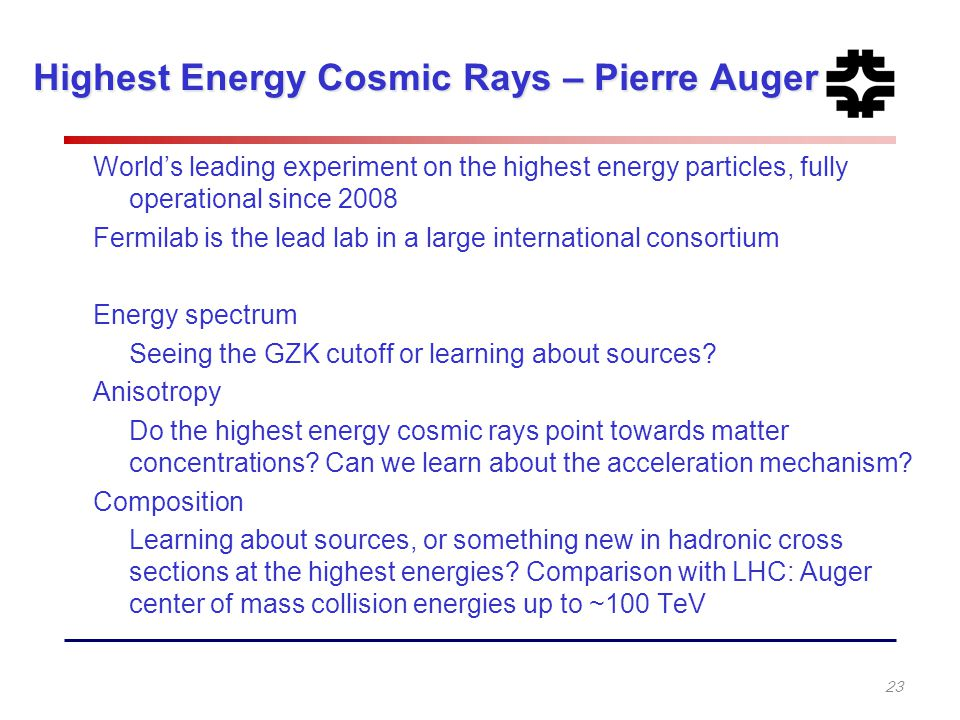 Highest Energy Cosmic Rays – Pierre Auger