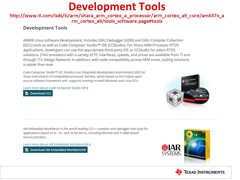 Development Tools http://www. ti