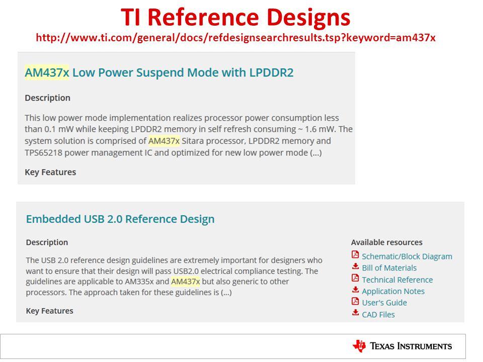 TI Reference Designs http://www. ti