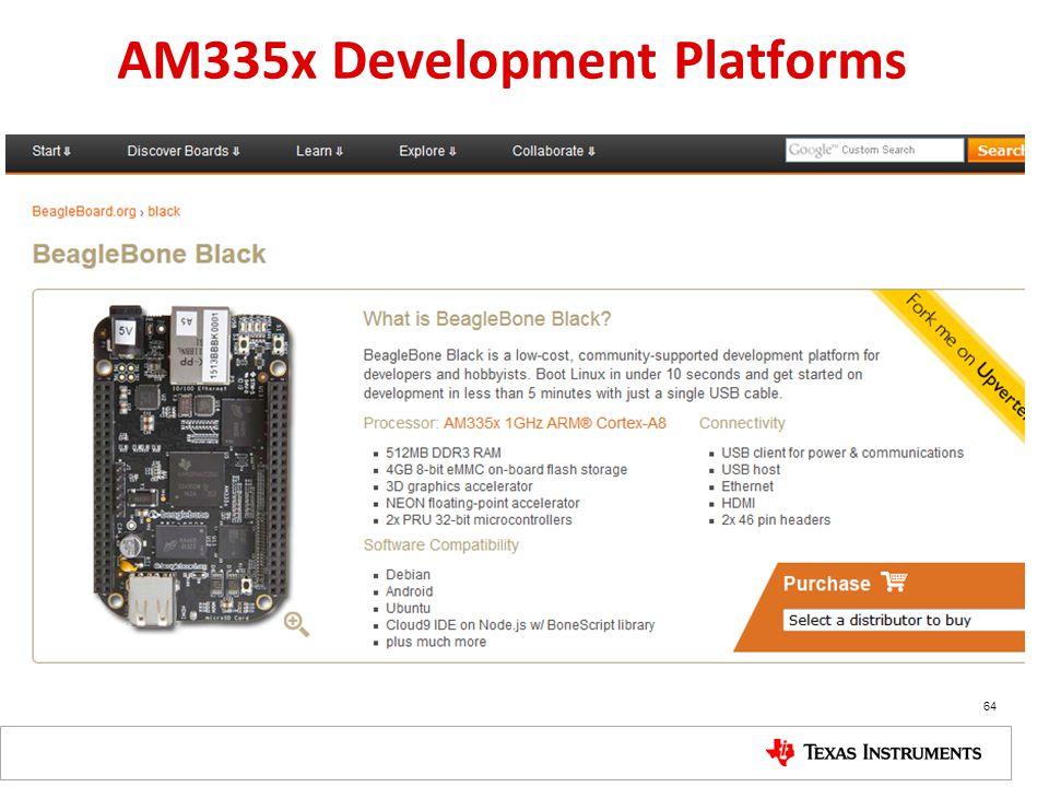 AM335x Development Platforms
