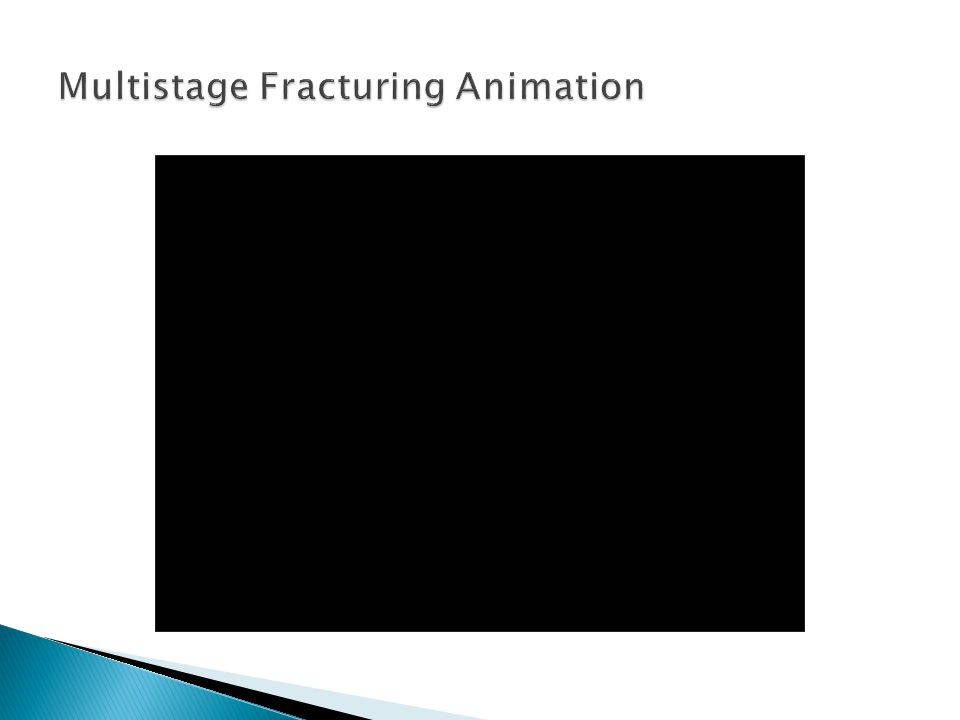 Multistage Fracturing Animation