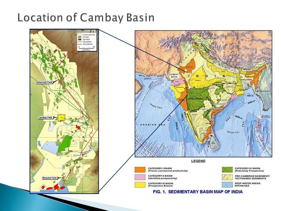 Location of Cambay Basin