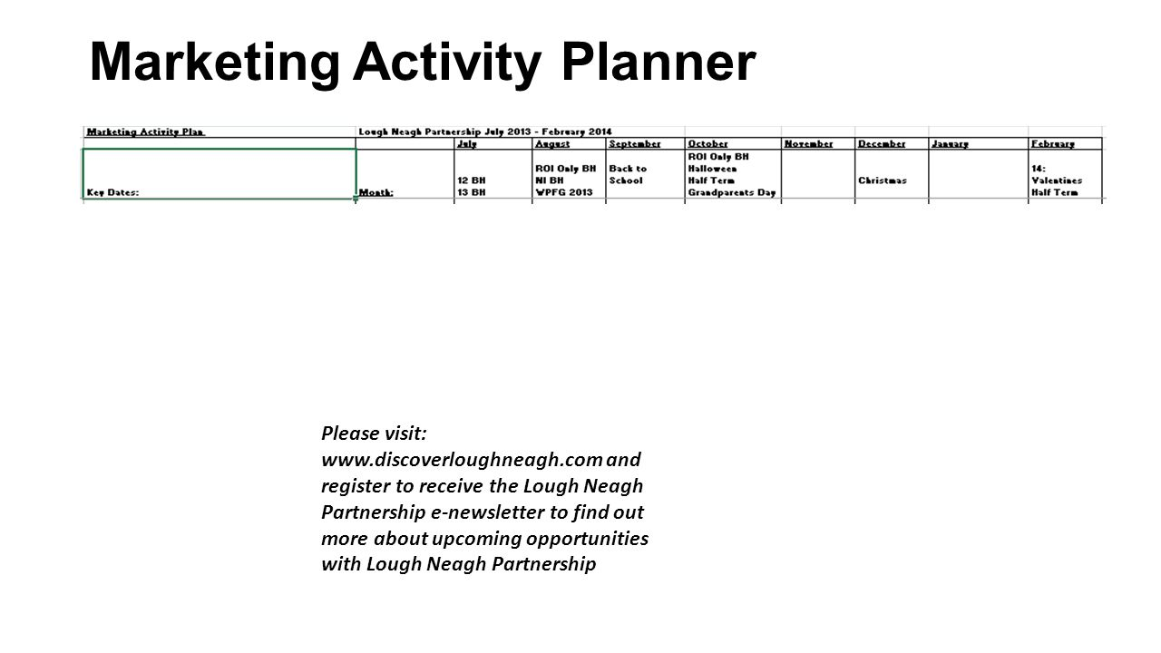 Marketing Activity Planner