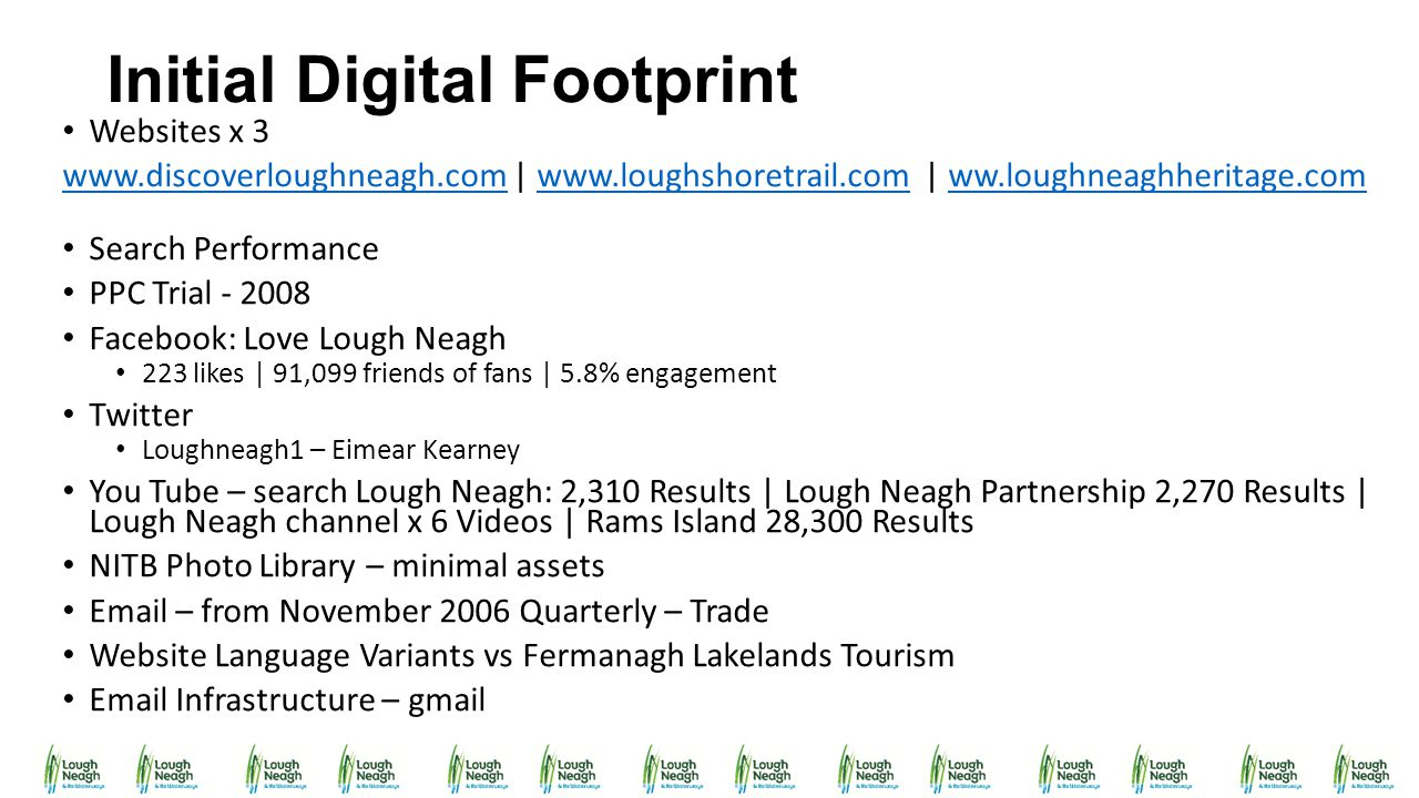 Initial Digital Footprint