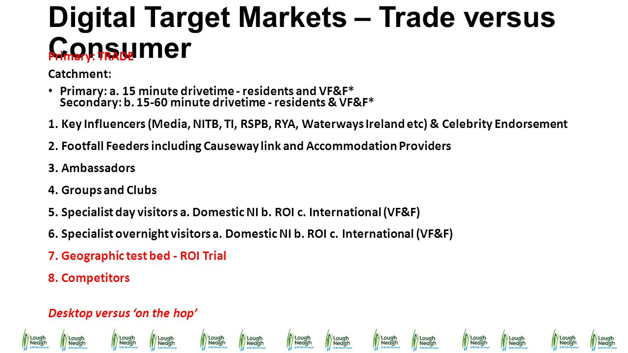 Digital Target Markets – Trade versus Consumer