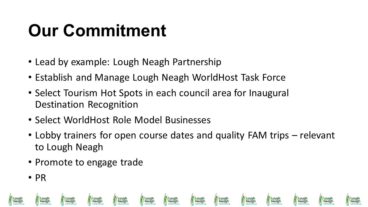 Our Commitment Lead by example: Lough Neagh Partnership