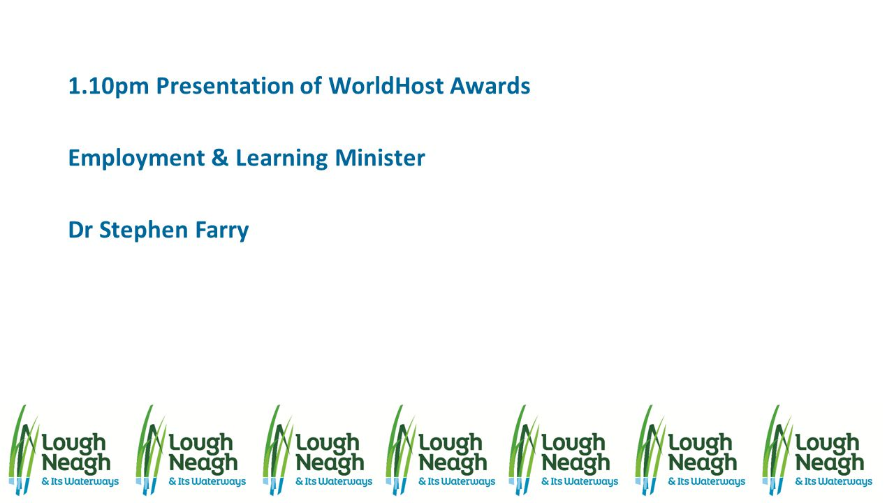 1.10pm Presentation of WorldHost Awards