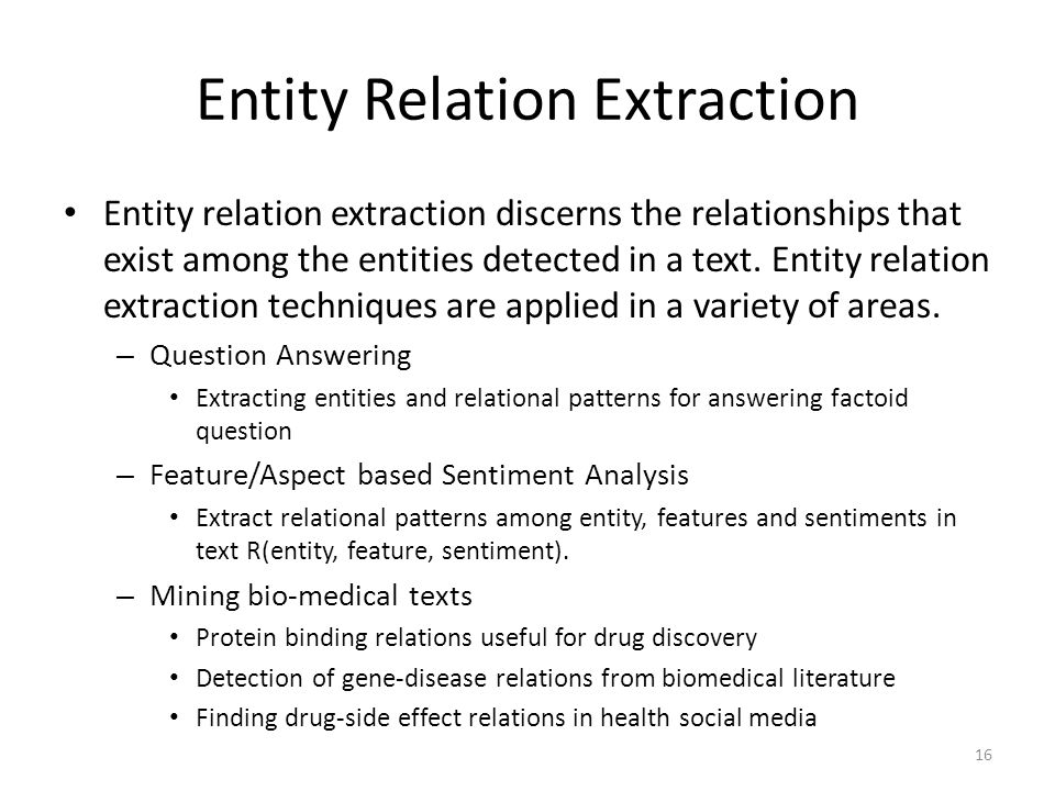 Entity Relation Extraction