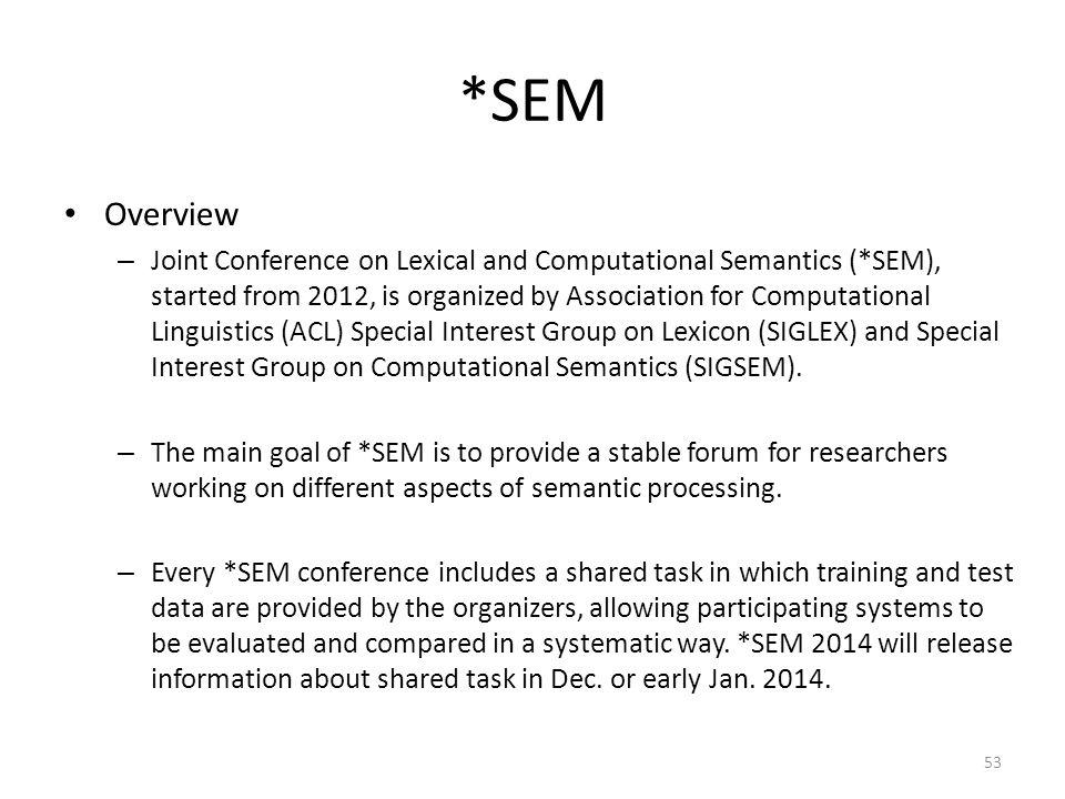 *SEM Overview.