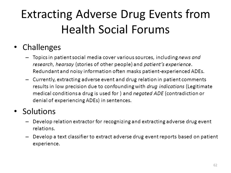 Extracting Adverse Drug Events from Health Social Forums