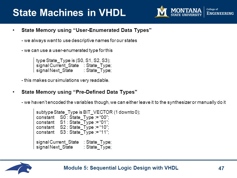 State Machines in VHDL