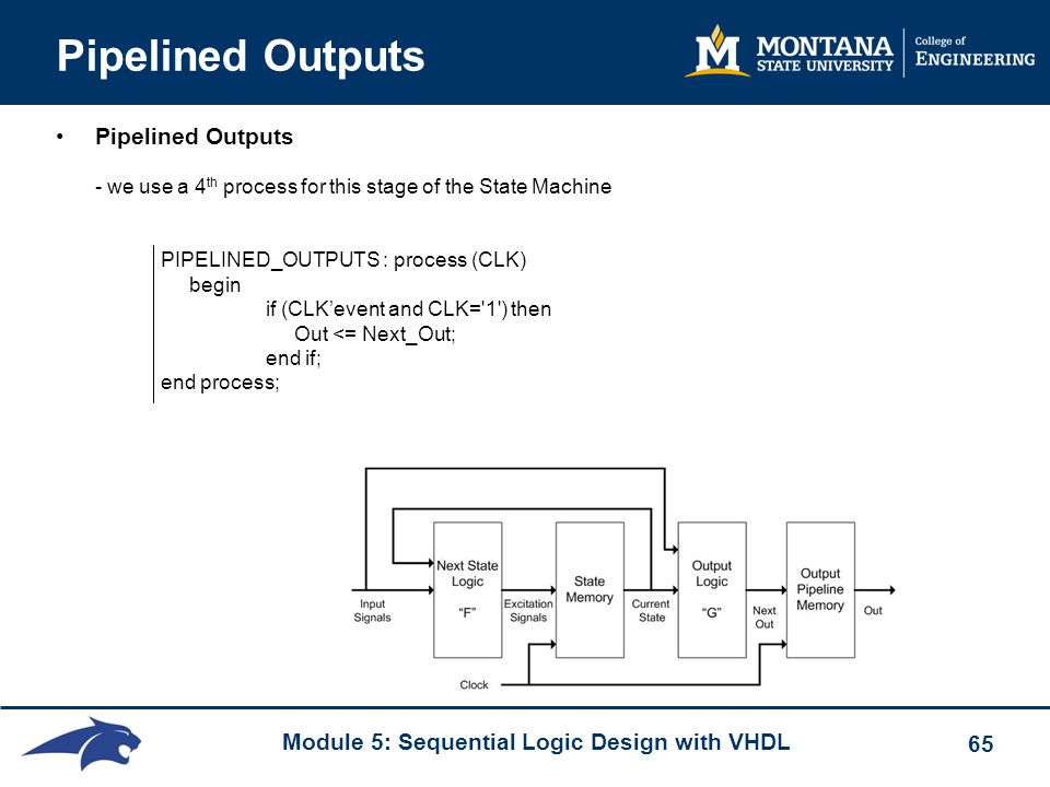 Pipelined Outputs