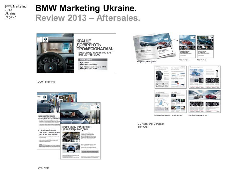 BMW Marketing Ukraine. Review 2013 – Aftersales.