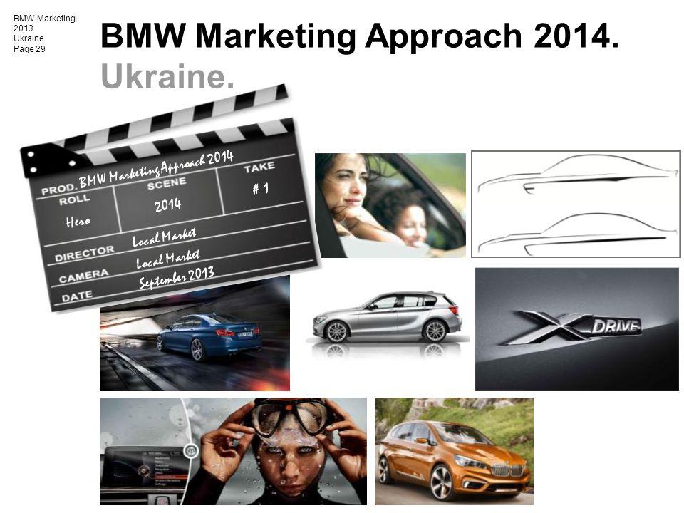 BMW Marketing Approach 2014. Ukraine.
