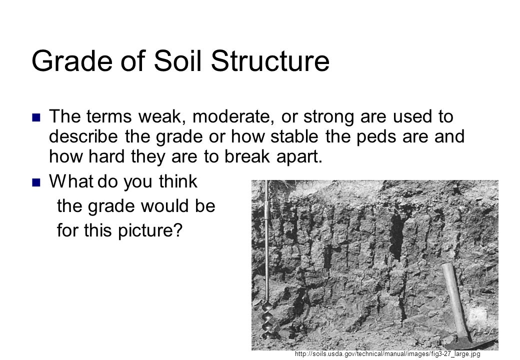 Grade of Soil Structure